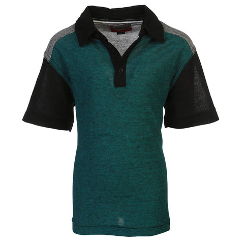 BURNSIDE BOYS POLO SCUBA BLUE