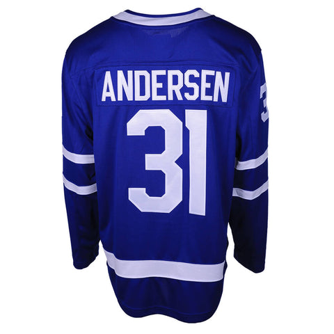 FANATICS MEN'S TORONTO MAPLE LEAFS ANDERSEN HOME JERSEY BLUE