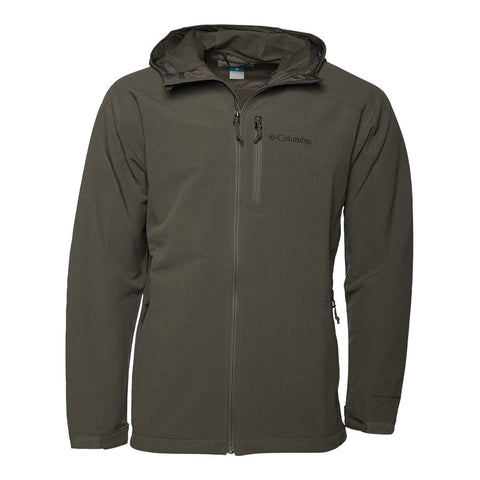 COLUMBIA MEN'S PINE FLATS SOFTSHELL BOULDER HEATHER