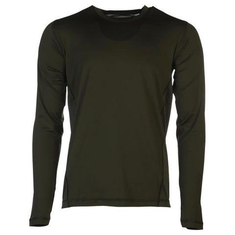 ADIDAS MEN'S U TECH LONG SLEEVE TOP NIGHT CARBON