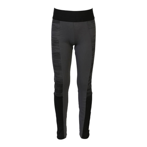 ADIDAS GIRLS ID LINEAGE TIGHT GREY/BLACK