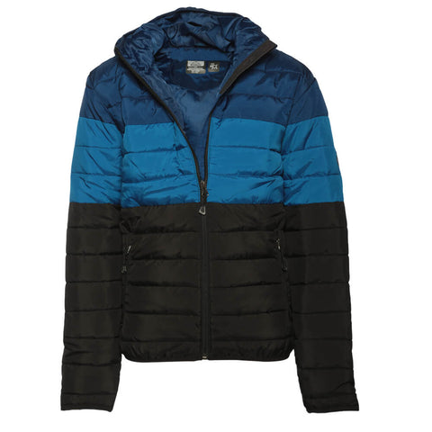 MCKINLEY BOYS' RICON DOWN LOOK JACKET BLUE/BLACK