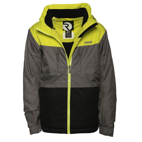RIPZONE BOYS' CALI INSULATED JACKET GREEN LIME