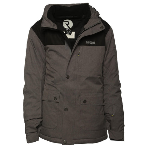 RIPZONE BOYS' CHRISTIAN INSULATED JACKET ANTHRACITE