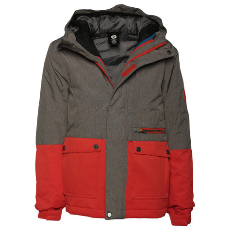 RIPZONE BOYS' CARTER 3 IN 1 JACKET CASTLE MELANGE