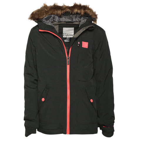 RIPZONE GIRL'S DUSTY INSULATED JACKET BLACK MELANGE