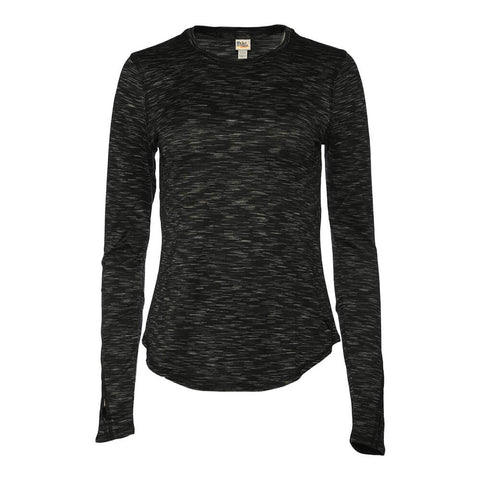 DIADORA WOMEN'S ESSENTIAL LONG SLEEVE LAYERING TOP BLACK