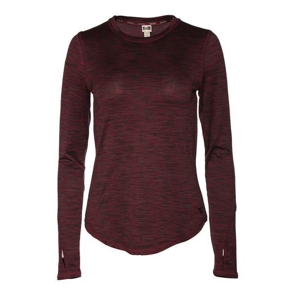 31fe0e94ad DIADORA WOMEN'S ESSENTIAL LONG SLEEVE LAYERING EXTENDED SIZES WINE