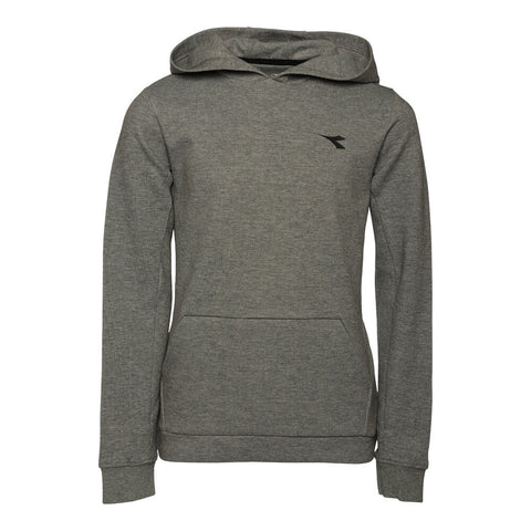 DIADORA BOYS' DOUBLE KNIT POP OVER HOODIE MIDGREY CHARCOAL