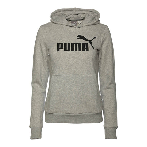 PUMA WOMEN'S ESSENTIAL NO. 1 FLEECE HOODY LIGHT GRAY