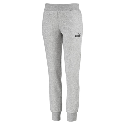 PUMA WOMEN'S ESSENTIAL SWEAT PANT LIGHT GREY