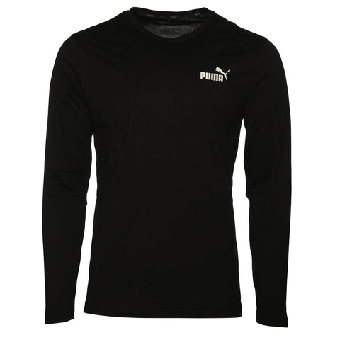 PUMA MEN'S ESSENTIAL NO1 LOGO LONG SLEEVE TOP BLACK