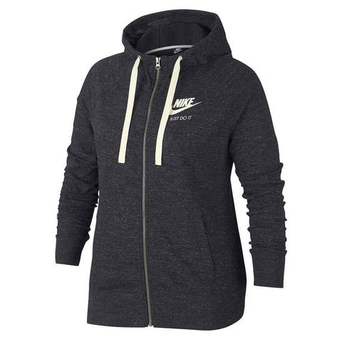 04d9135205fd5e NIKE WOMEN'S GYM VINTAGE FULL ZIP HOODY EXTENDED SIZING ANTHRACITE