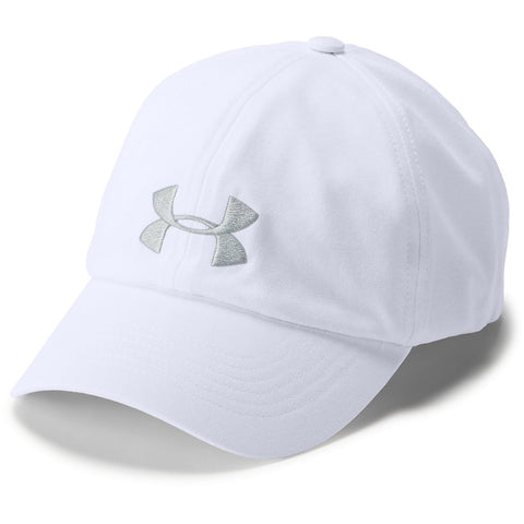 UNDER ARMOUR WOMEN'S THREADBORNE SOLID CAP WHITE/ELEMENT