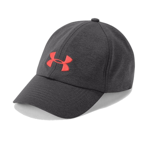 UNDER ARMOUR WOMEN'S THREADBORNE SOLID CAP CHARCOAL/AFTERBURN