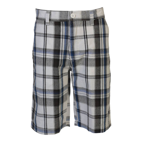 BURNSIDE BOYS PLAID SHORT WHITE