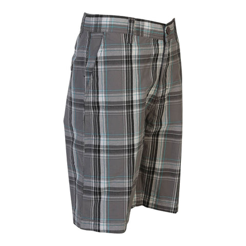 BURNSIDE BOYS PLAID SHORT CARBON