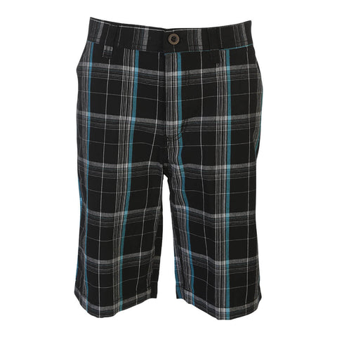BURNSIDE BOYS PLAID SHORT TURQUOISE
