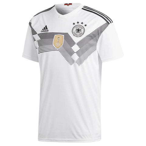 ADIDAS MEN'S 2018 GERMANY HOME REPLICA JERSEY WHITE