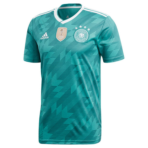ADIDAS MEN'S 2018 GERMANY AWAY REPLICA JERSEY EQT GREEN