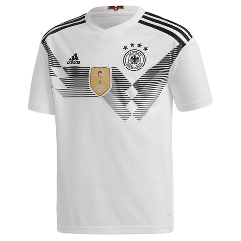 ADIDAS YOUTH 2018 GERMANY HOME REPLICA JERSEY WHITE
