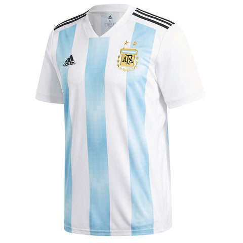 ADIDAS MEN'S 2018 ARGENTINA HOME REPLICA JERSEY WHITE/BLUE
