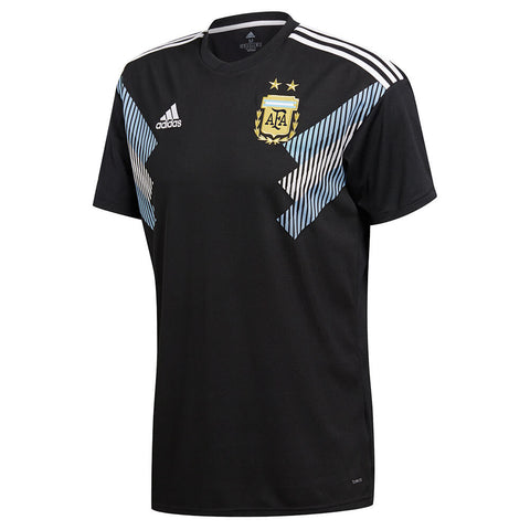 ADIDAS MEN'S 2018 ARGENTINA AWAY REPLICA JERSEY BLACK