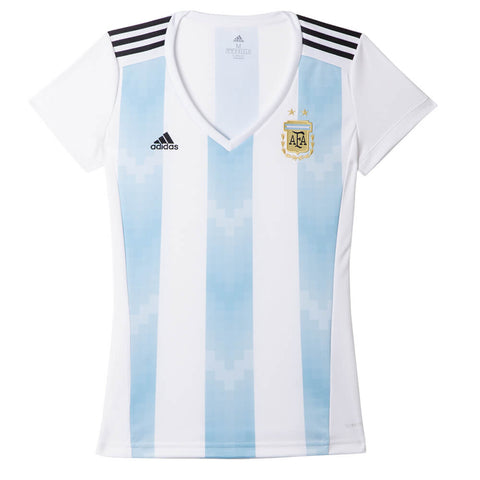 ADIDAS WOMEN'S 2018 ARGENTINA HOME REPLICA JERSEY WHITE/BLUE