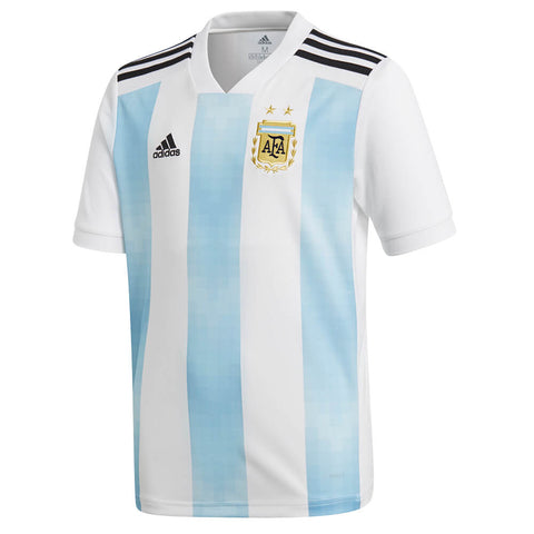 ADIDAS YOUTH 2018 ARGENTINA HOME REPLICA JERSEY WHITE/BLUE