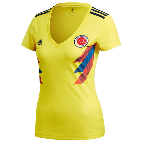 ADIDAS WOMEN'S 2018 COLOMBIA HOME REPLICA JERSEY YELLOW