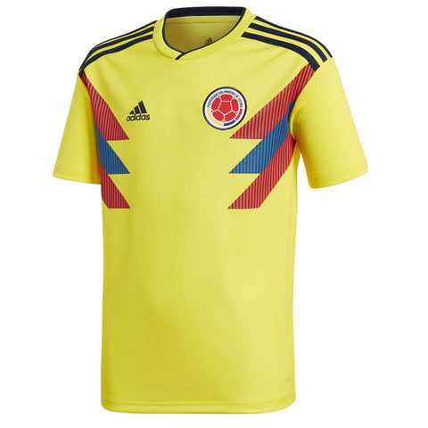 ADIDAS YOUTH 2018 COLOMBIA HOME REPLICA JERSEY YELLOW