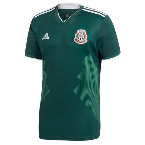 ADIDAS MEN'S 2018 MEXICO HOME REPLICA JERSEY GREEN