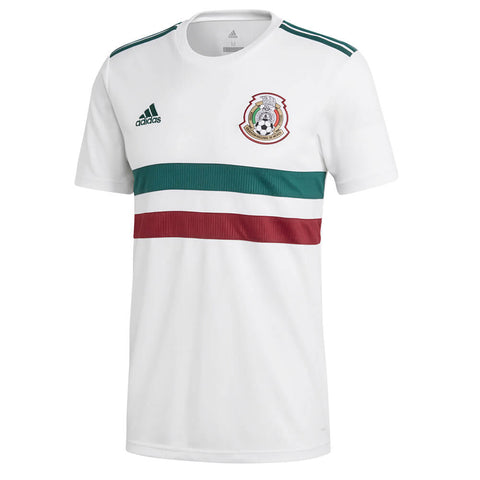 ADIDAS MEN'S 2018 MEXICO AWAY REPLICA JERSEY WHITE