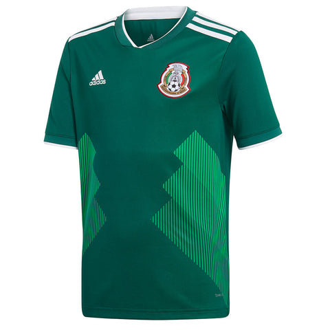 ADIDAS YOUTH 2018 MEXICO HOME REPLICA JERSEY GREEN
