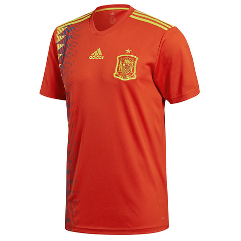 ADIDAS MEN'S 2018 SPAIN HOME REPLICA JERSEY RED