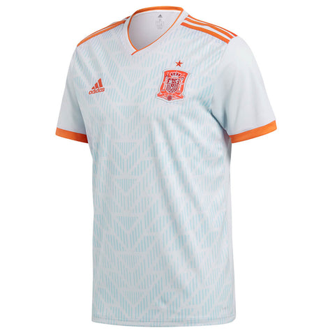 ADIDAS MEN'S 2018 SPAIN AWAY REPLICA JERSEY WHITE