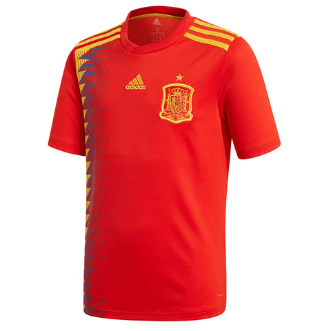 ADIDAS YOUTH 2018 SPAIN HOME REPLICA JERSEY RED