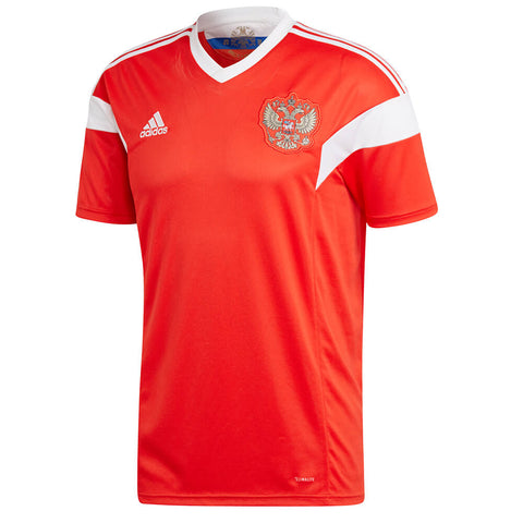 ADIDAS MEN'S 2018 RUSSIA HOME REPLICA JERSEY RED