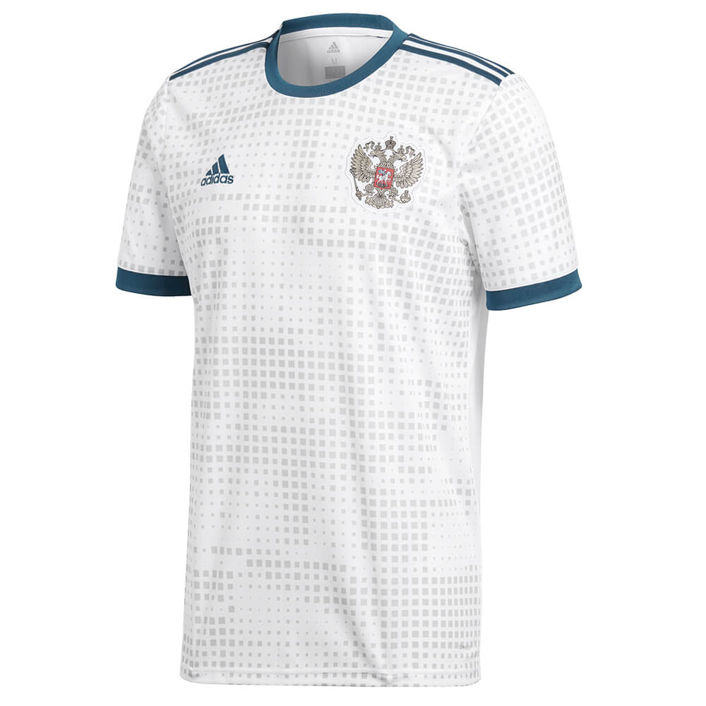 ADIDAS MEN S 2018 RUSSIA AWAY REPLICA JERSEY WHITE – National Sports 68fc28479