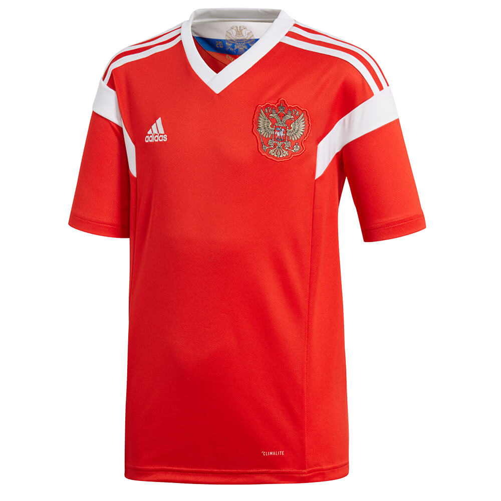 20904d96 ADIDAS YOUTH 2018 RUSSIA HOME REPLICA JERSEY RED – National Sports
