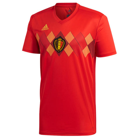 ADIDAS MEN'S 2018 BELGIUM HOME REPLICA JERSEY RED
