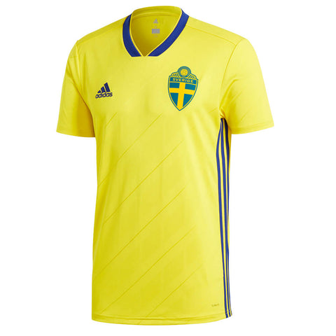 ADIDAS MEN'S 2018 SWEDEN HOME REPLICA JERSEY YELLOW