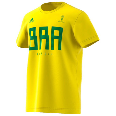 ADIDAS MEN'S WORLD CUP 2018 FAN TOP BRAZIL