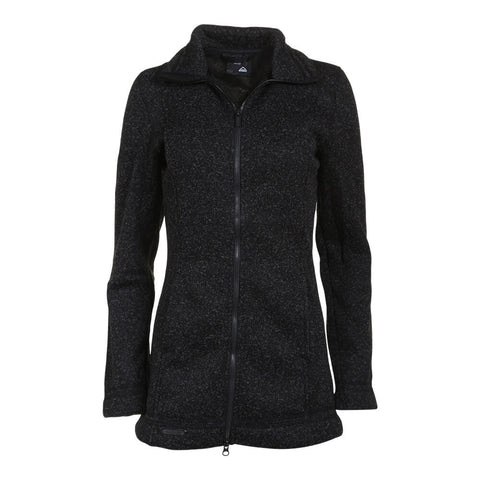 MCKINLEY WOMEN'S PAULISTA LONG KNIT JACKET BLACK MELANGE