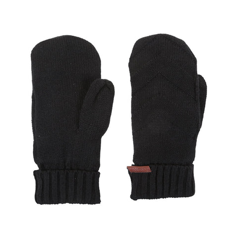 RIPZONE WOMEN'S NICOLA KNITTED MITTEN BLACK