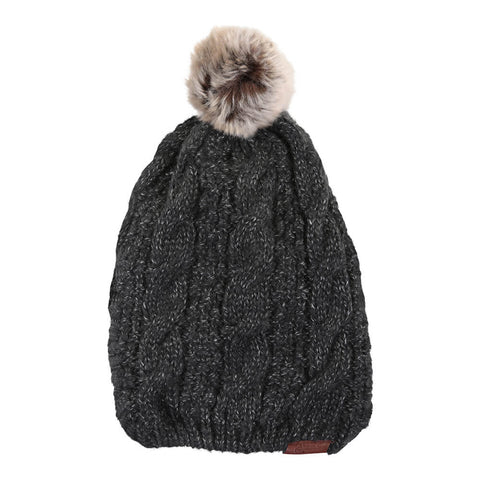 RIPZONE WOMEN'S MARA POM TOQUE BLACK