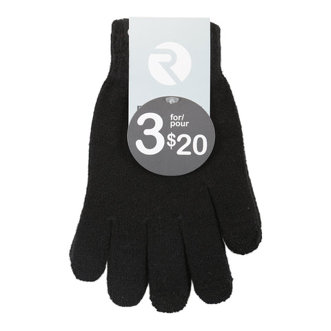 RIPZONE ADULT LOGAN TOUCH TIP GLOVE BLACK