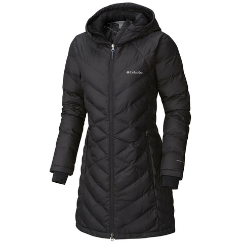 COLUMBIA WOMEN'S HEAVENLY LONG HOODED JACKET EXTENDED SIZES BLACK