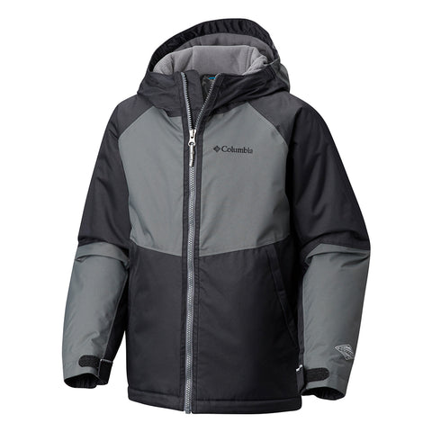 COLUMBIA BOYS' ALPINE ACTION JACKET BLACK/GRILL