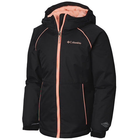 COLUMBIA GIRLS' ALPINE ACTION JACKET BLACK/TIKI PINK
